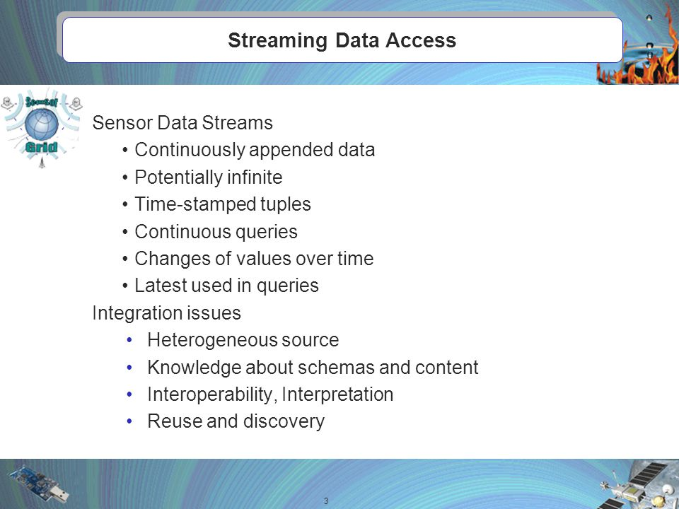 Motivation 4Enabling Ontology-based Access to Streaming Data Sources Expose sensor data as observations in terms of an Ontology Achieve logical transparency in access to data.