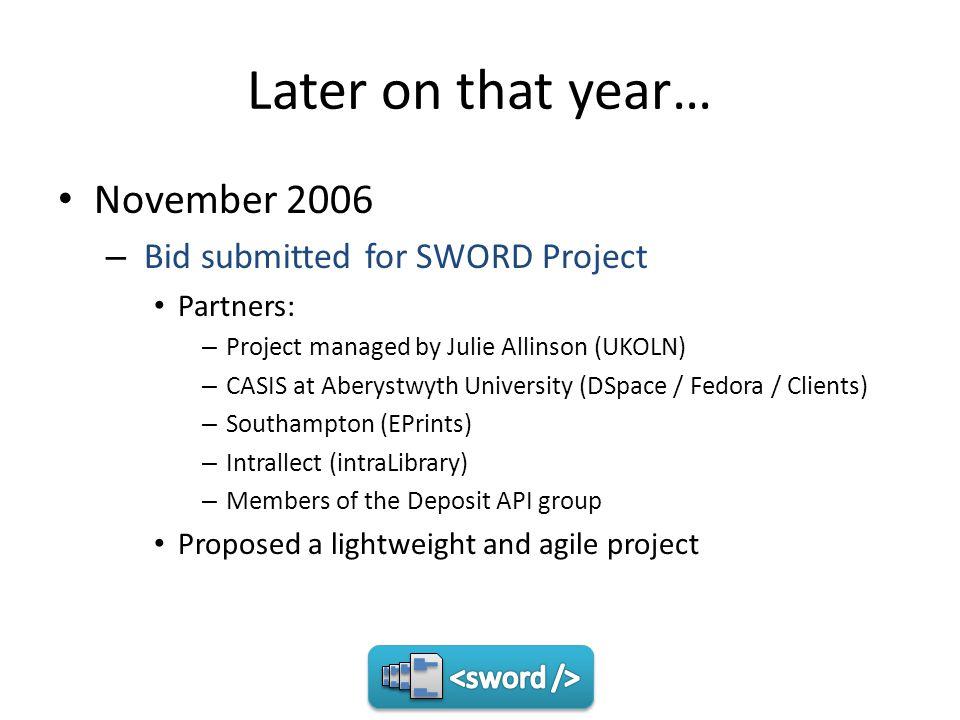 The Project Workpackage 1: Standards and Protocol – Evaluate existing standards WebDAV JSR OKI OSID ECL SRW Update SPI Google Data API ATOM Publishing Protocol (APP)