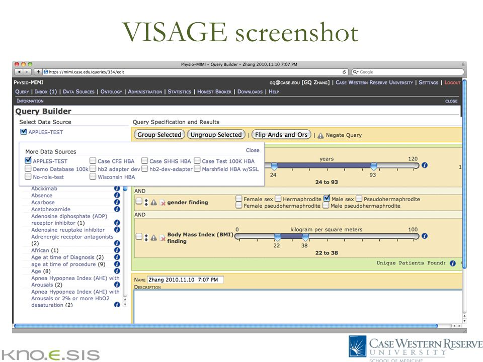 VISAGE screenshot