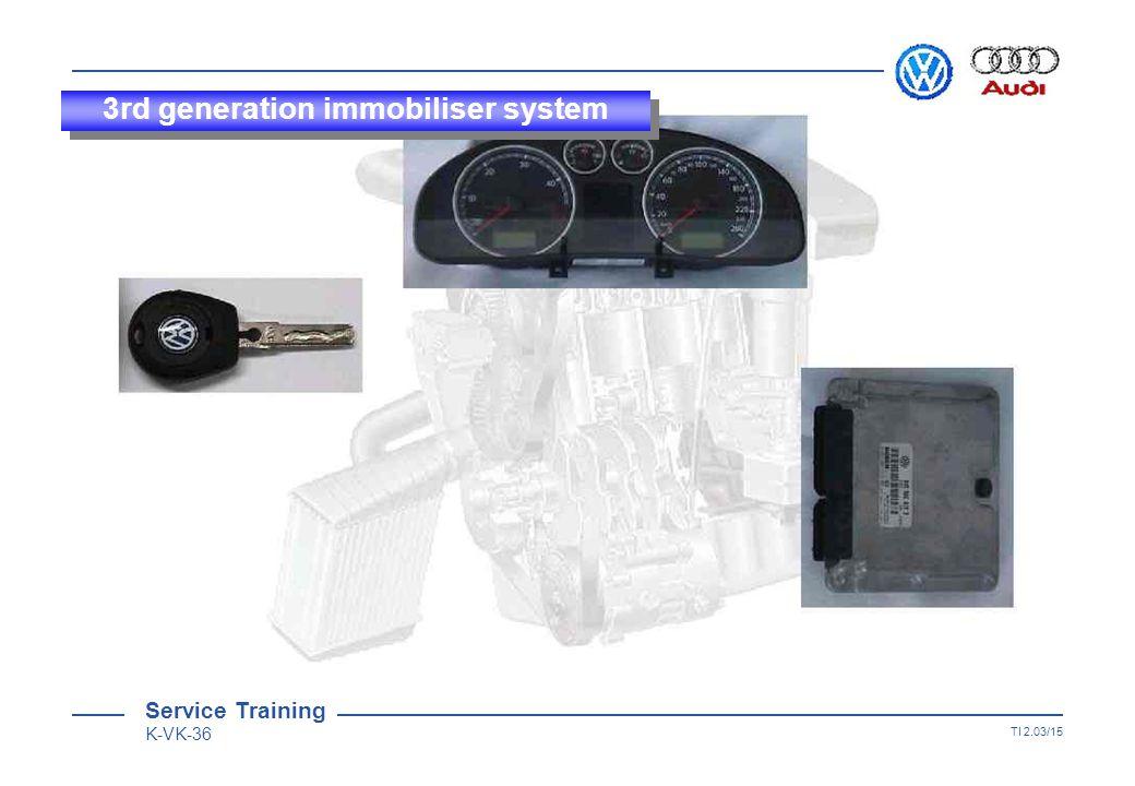 Service Training K-VK-36 TI 2.03/14 3rd generation immobiliser system Vehicle self-diagnosis Coding 21145 Dealership No.