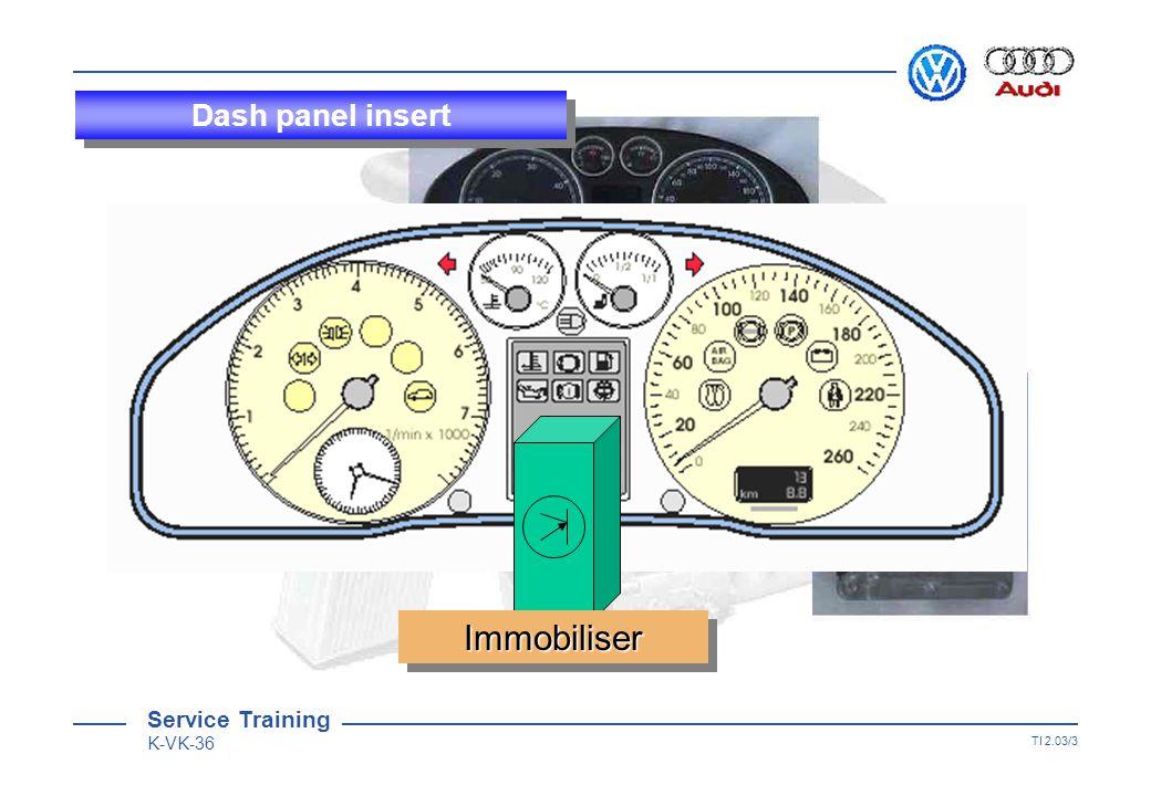 Service Training K-VK-36 TI 2.03/2 Dash panel insert 11 1717 3232 1616 VAG 1598 / 22 Adapter 27 = .