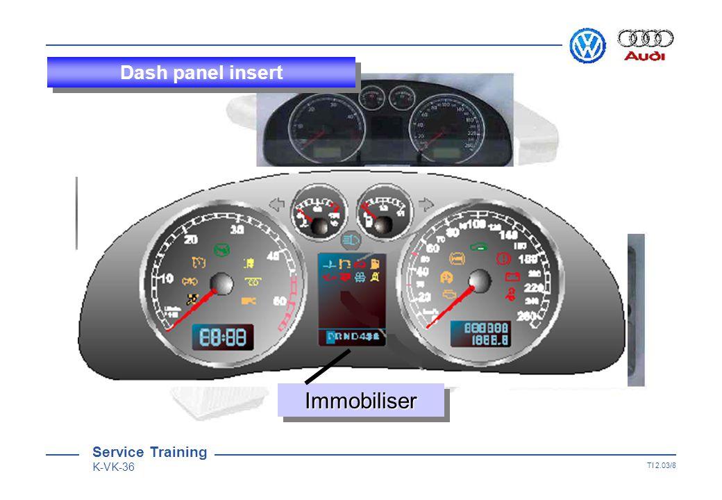 Service Training K-VK-36 TI 2.03/7 Dash panel insert Self-diagnosisSelf-diagnosis