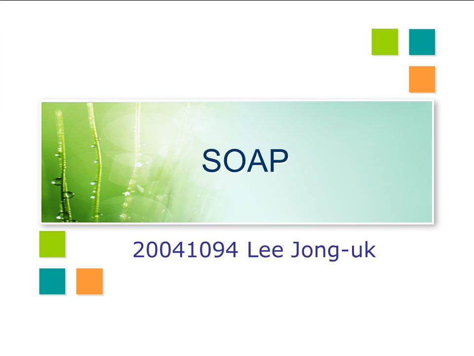 SOAP 20041094 Lee Jong-uk