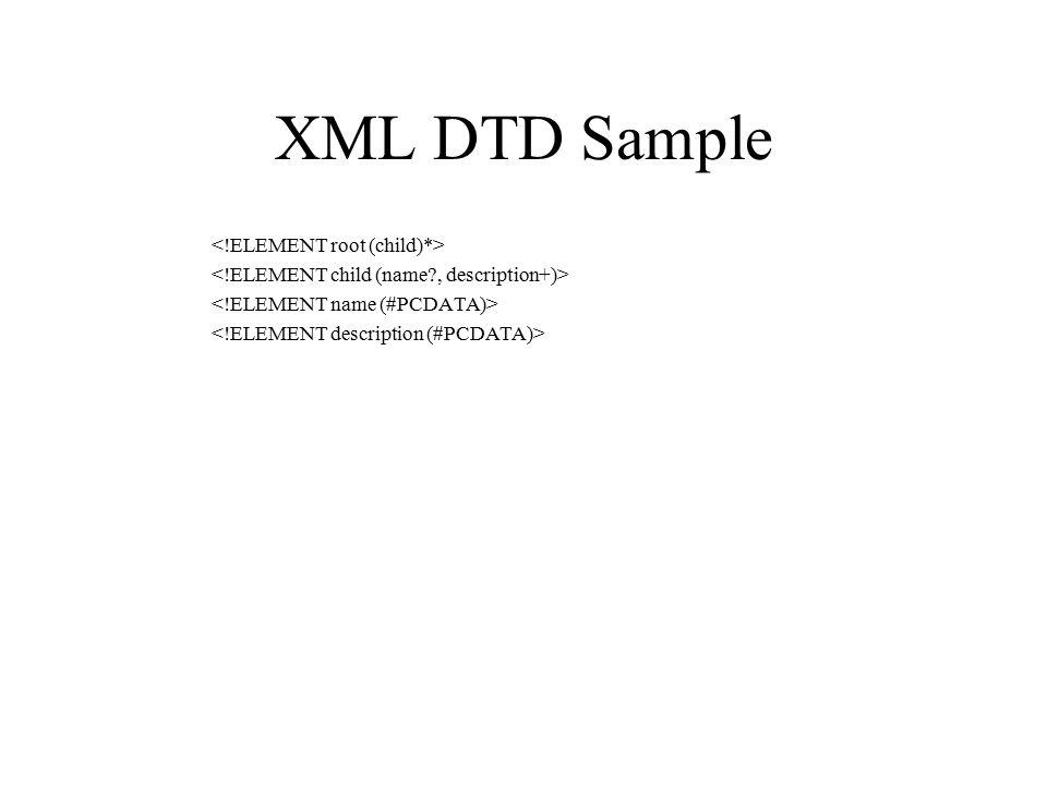 XML DTD Sample