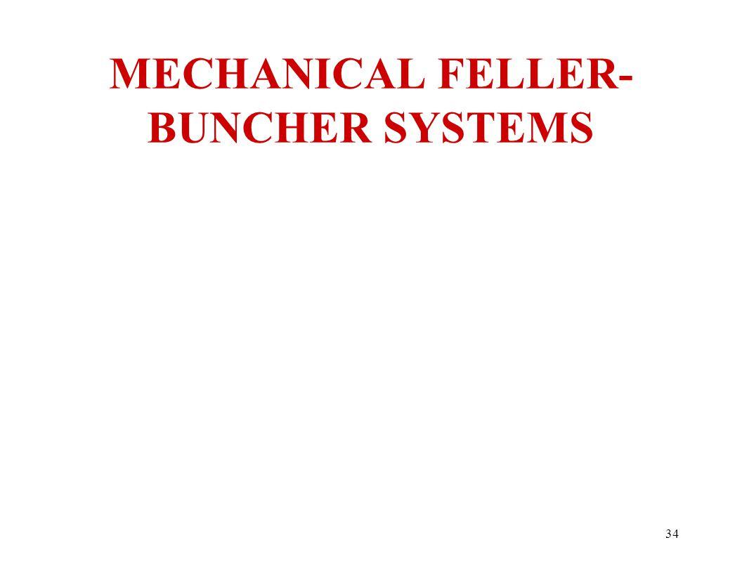 34 MECHANICAL FELLER- BUNCHER SYSTEMS