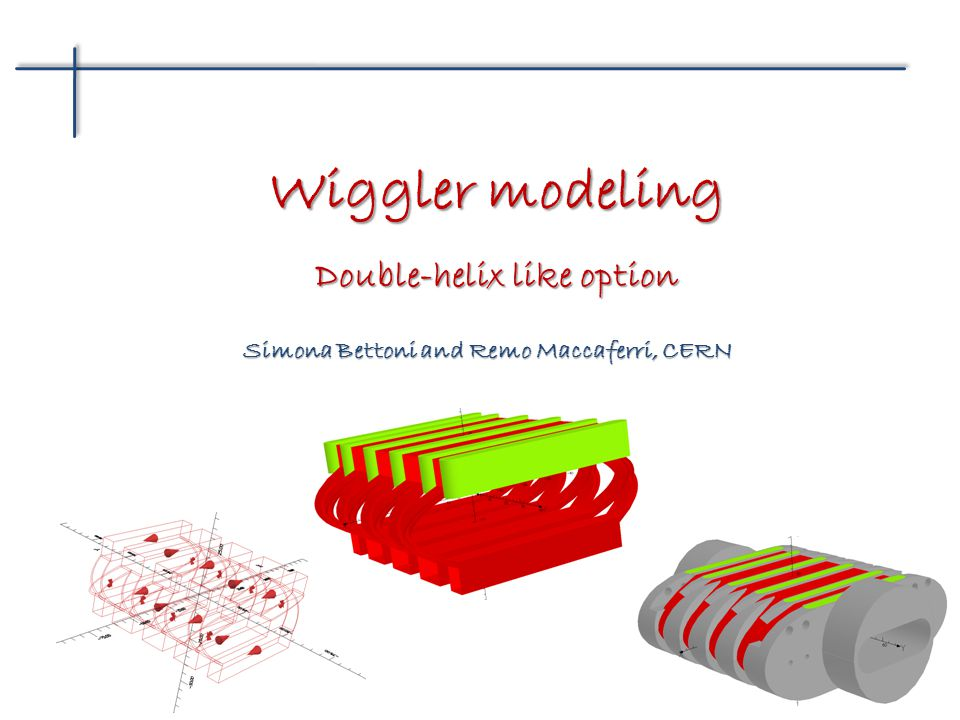 Simona Bettoni and Remo Maccaferri, CERN Wiggler modeling Double-helix like option