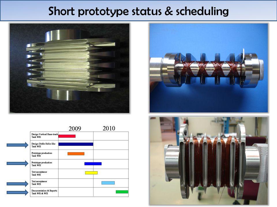 Short prototype status & scheduling