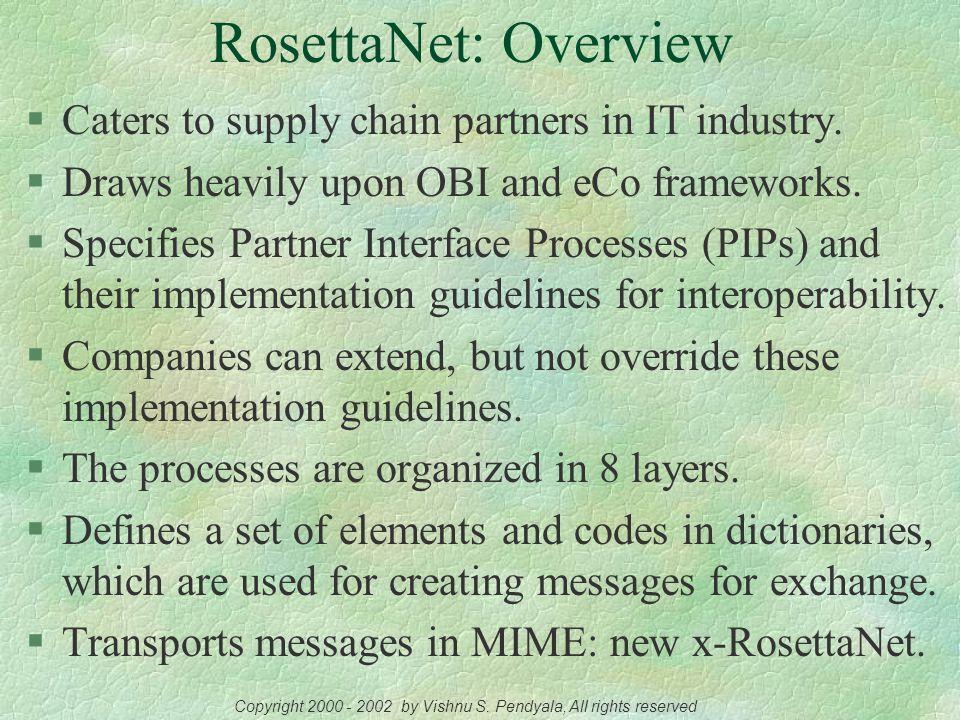 The RosettaNet Framework RosettaNet Consortium