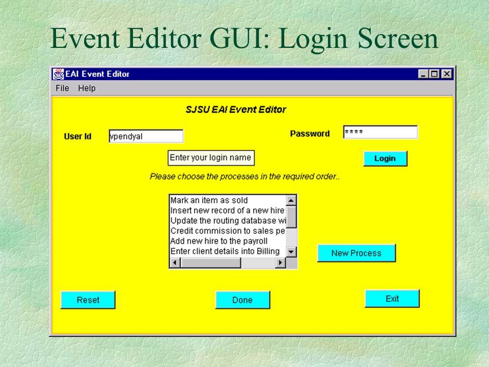 XML Authority for Event DTD