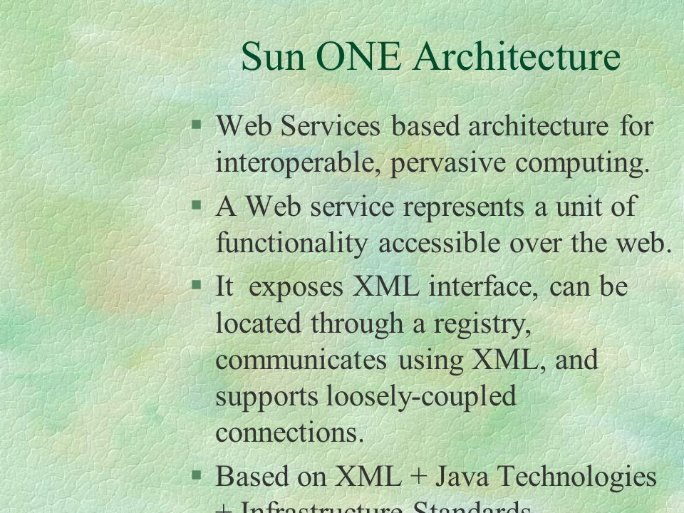 Enabling Technology The Server Side §EJB components cater to the service logic, make calls to AAA server. §EJB's in AAA server use JNDI to access subs