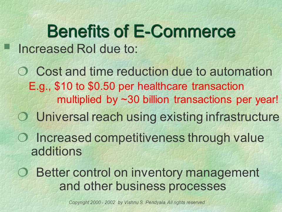 E-Commerce An Overview