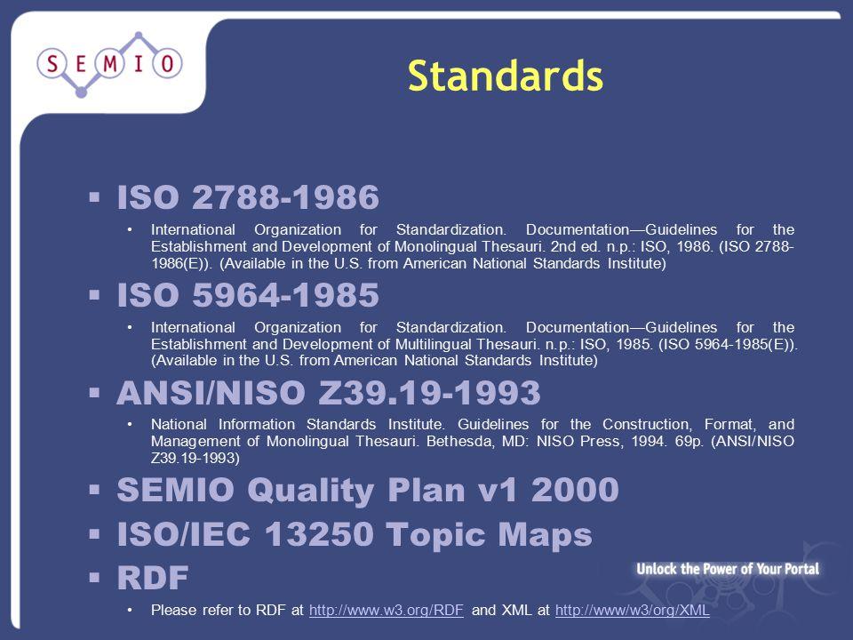 Standards  ISO 2788-1986 International Organization for Standardization.