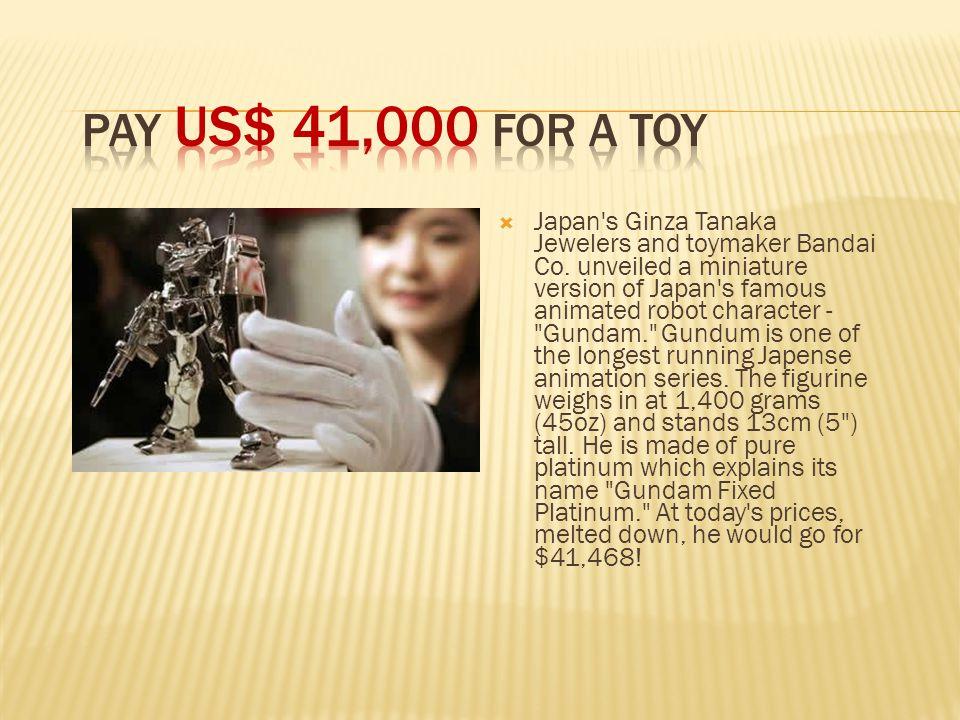  Japan s Ginza Tanaka Jewelers and toymaker Bandai Co.