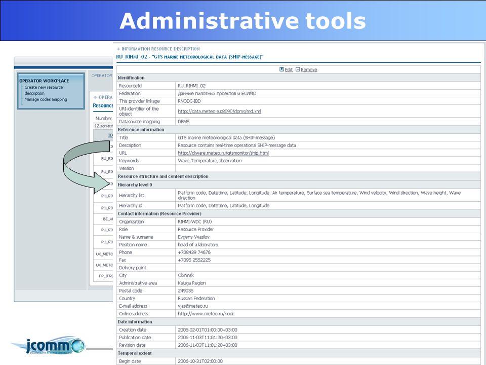 20 Administrative tools