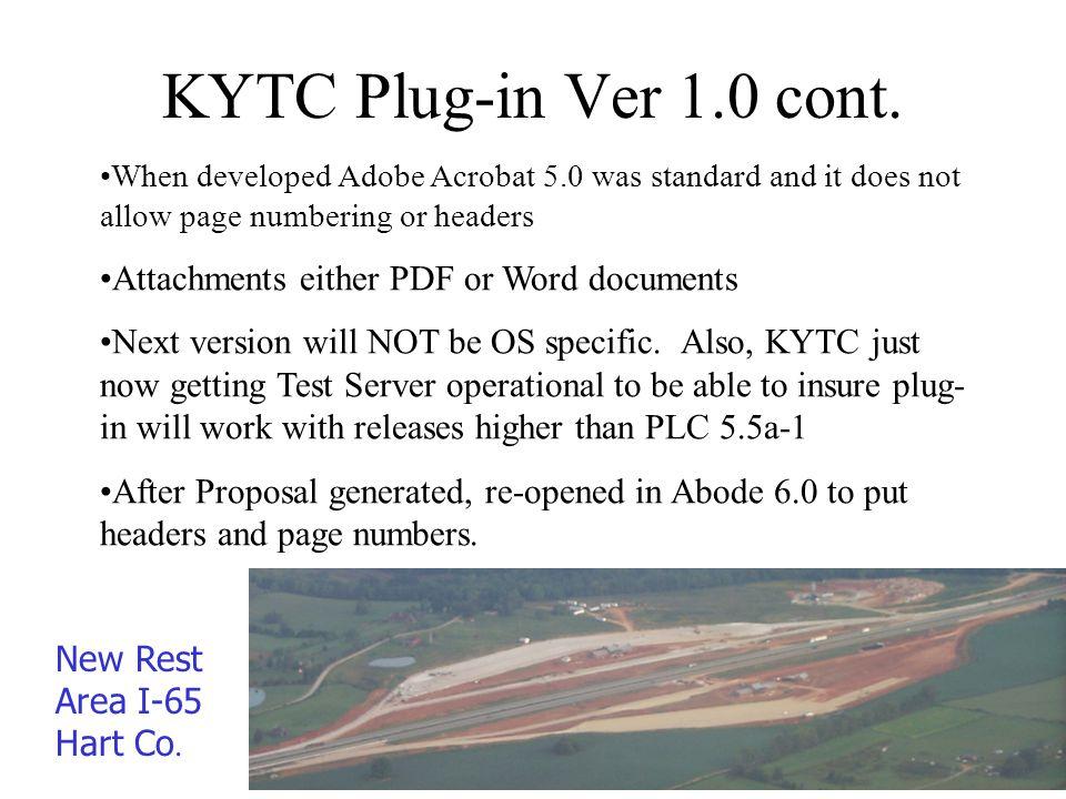 KYTC Plug-in Ver 1.0 cont.