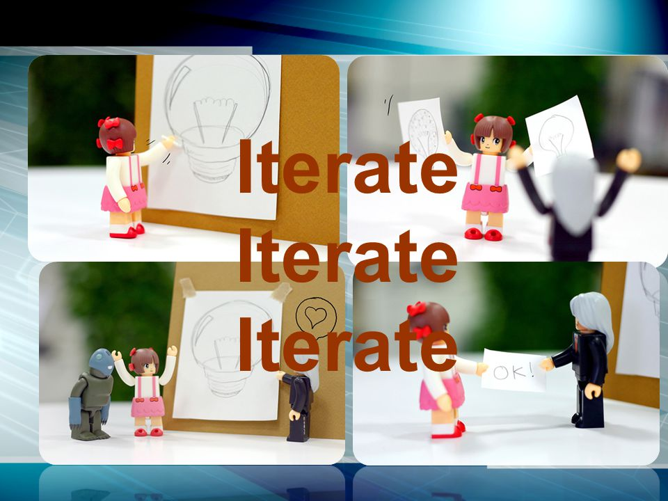 Feedback All of the people involved in providing content needs to check to make sure the team is headed in the right direction.