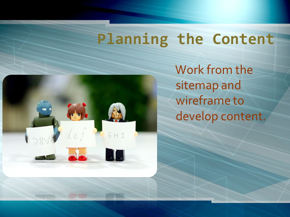 PROTOTYPES Three prototypes used in Web design 1.
