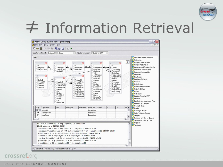 ≠ Information Retrieval