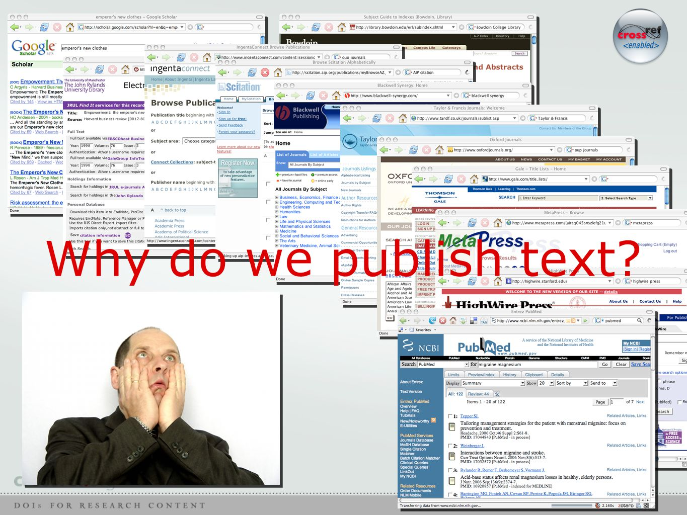 Why do we publish text