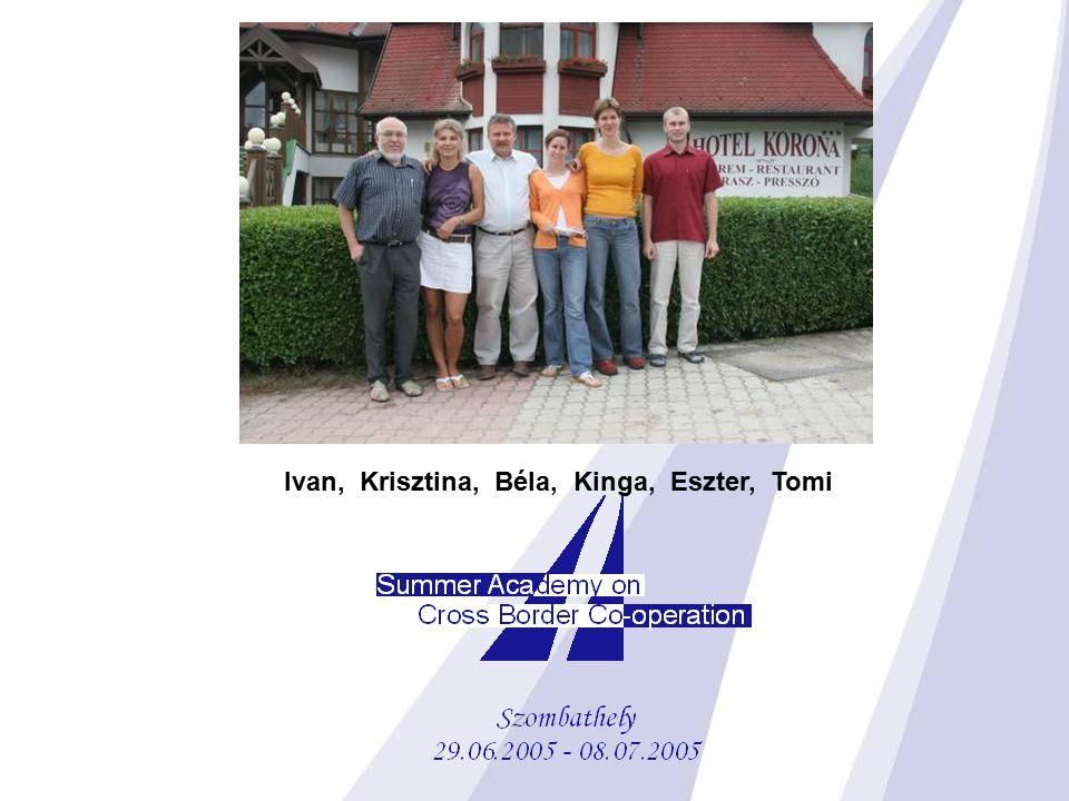 Ivan, Krisztina, Béla, Kinga, Eszter, Tomi