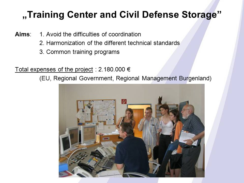 """Training Center and Civil Defense Storage Aims: 1."