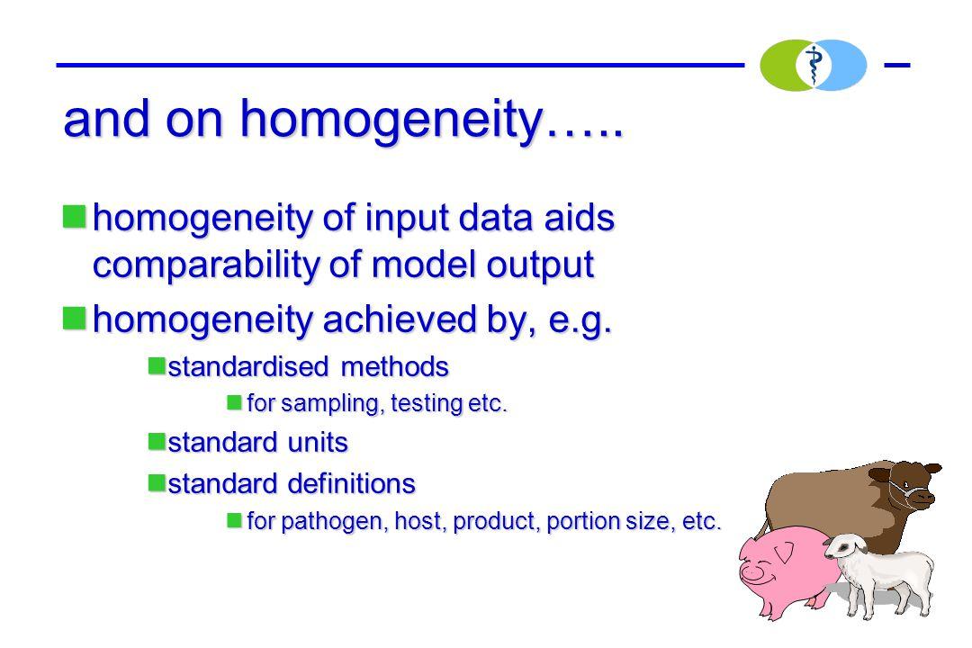 and on homogeneity…..