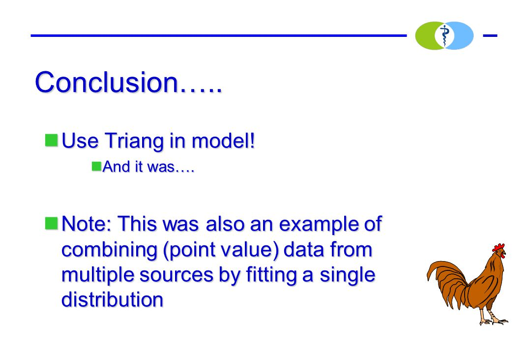 Conclusion….. Use Triang in model! Use Triang in model! And it was…. And it was…. Note: This was also an example of combining (point value) data from