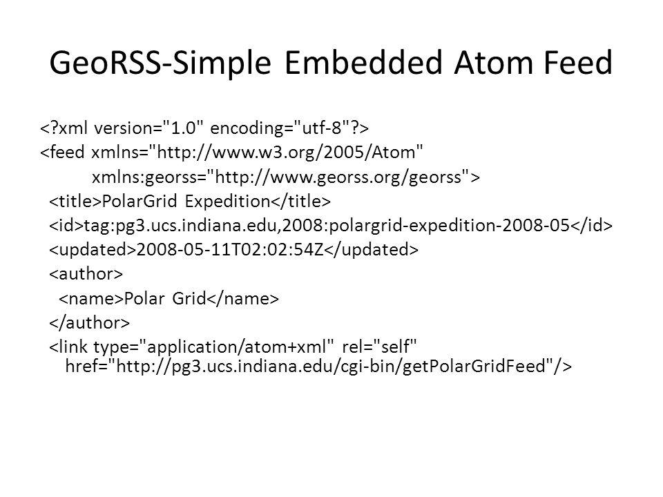 GeoRSS-Simple Embedded Atom Feed <feed xmlns=