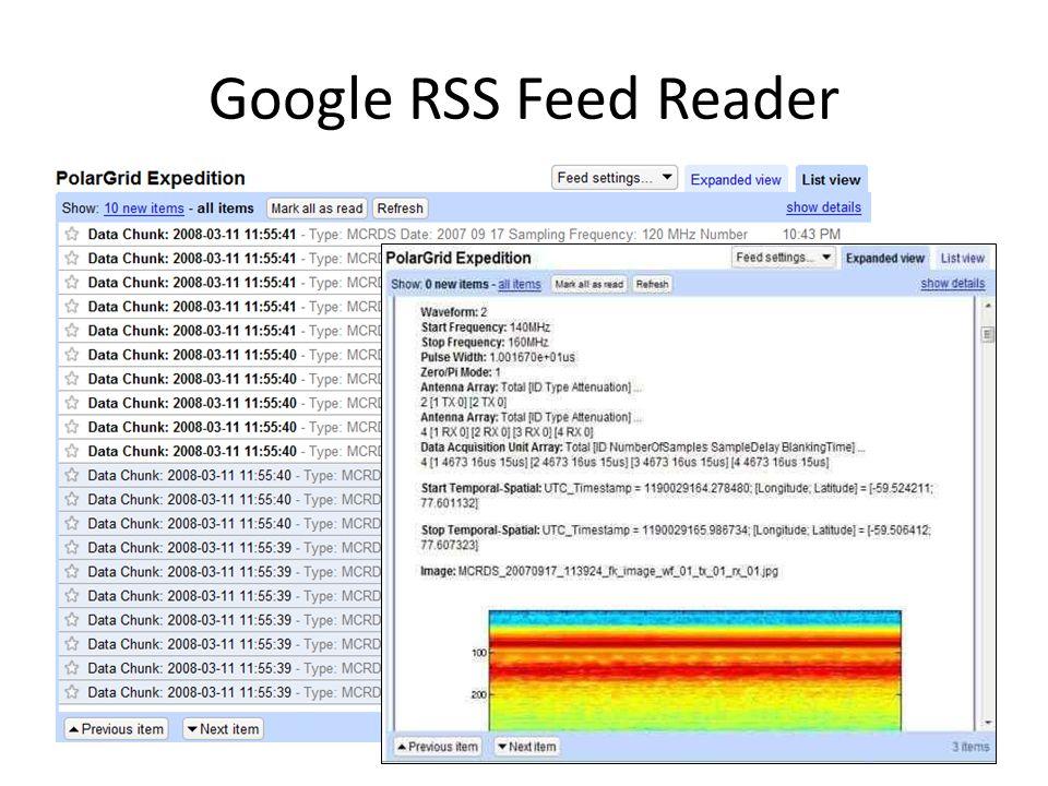 Google RSS Feed Reader
