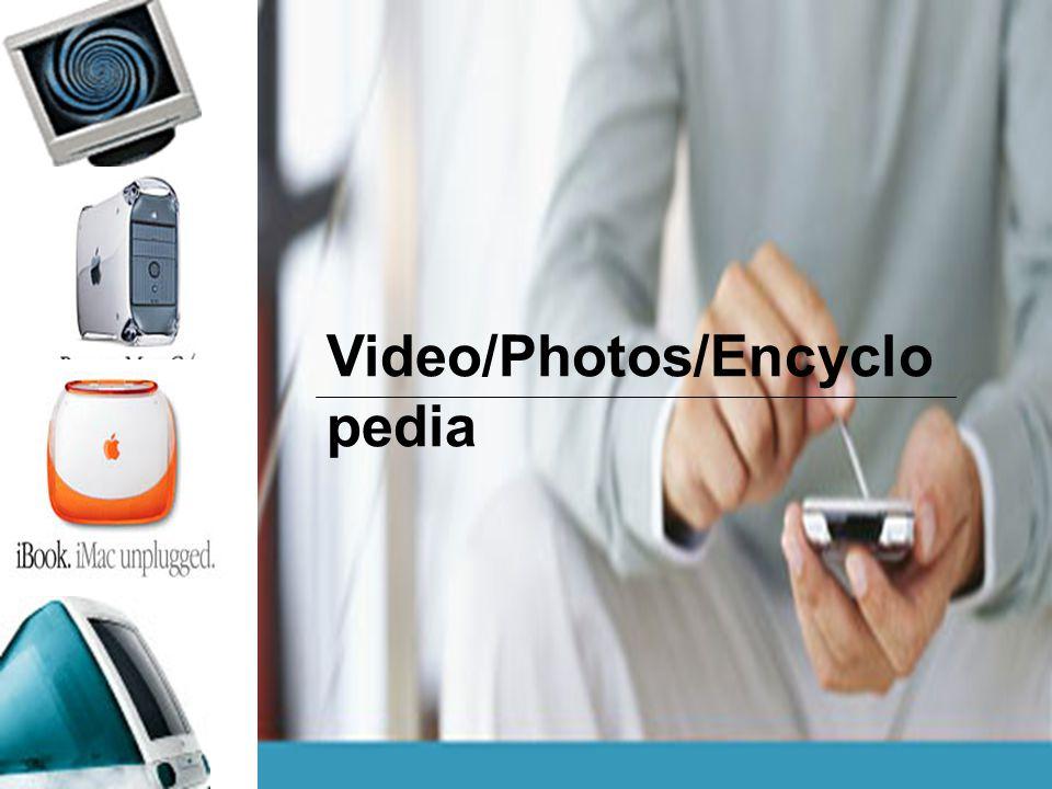 Video/Photos/Encyclo pedia