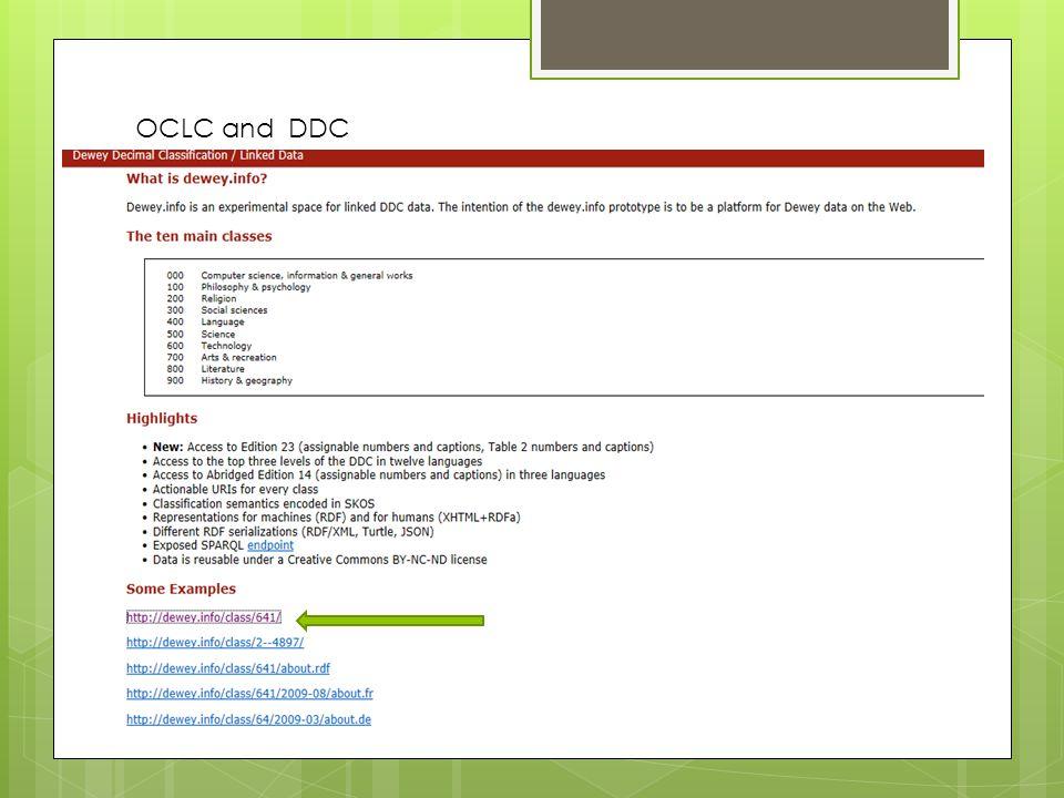 OCLC and DDC