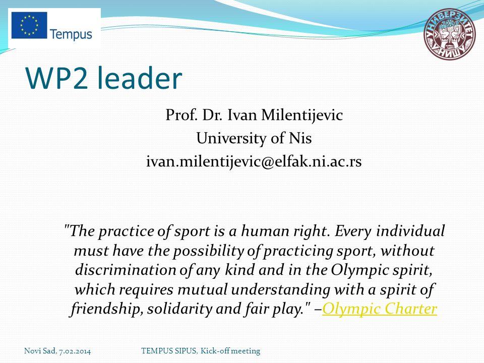 WP2 leader Prof. Dr.