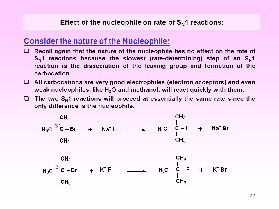 23 We have seen that alkyl halides may react with basic nucleophiles such as NaOH via substitution reactions.