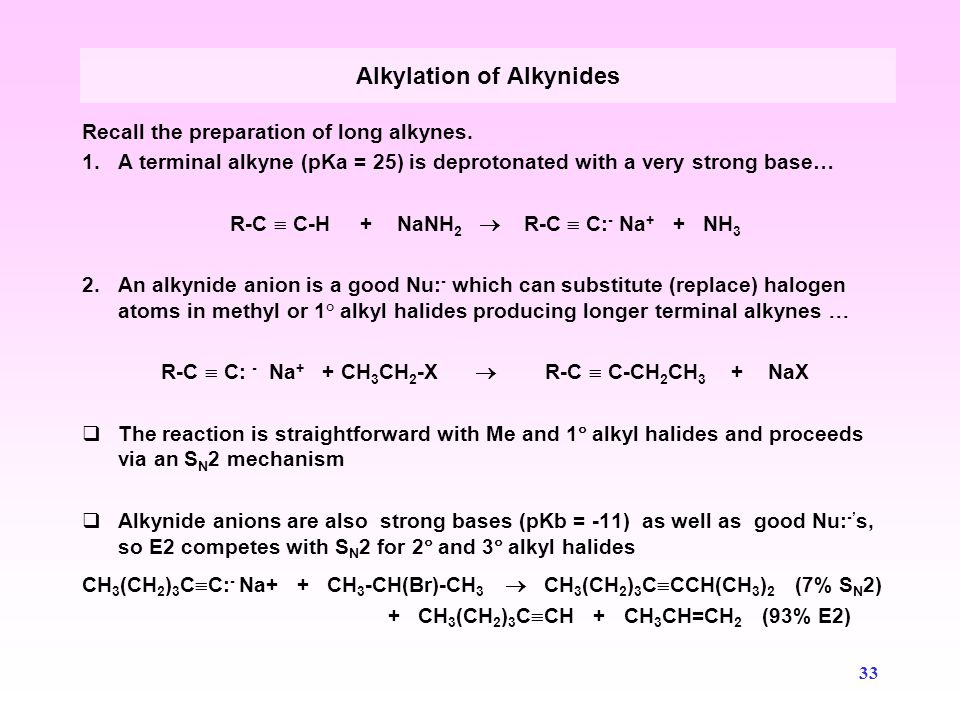 34 Alkyl halides can be prepared from alcohols by reaction with HX, i.e., the substitution of a halide on a protonated alcohol.