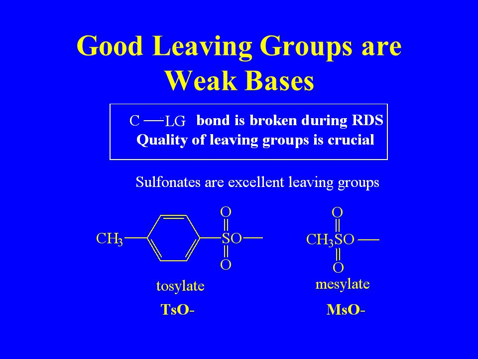 Good Leaving Groups are Weak Bases