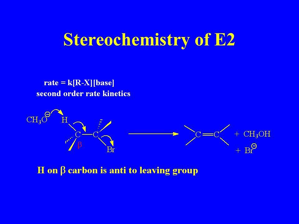 Stereochemistry of E2