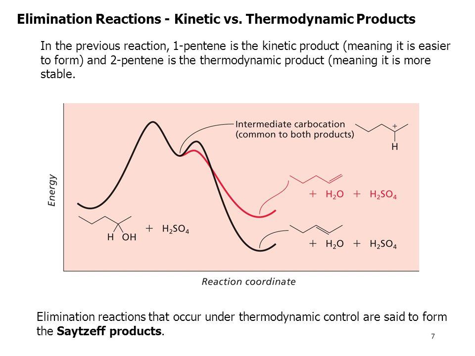 Elimination Reactions - Kinetic vs.