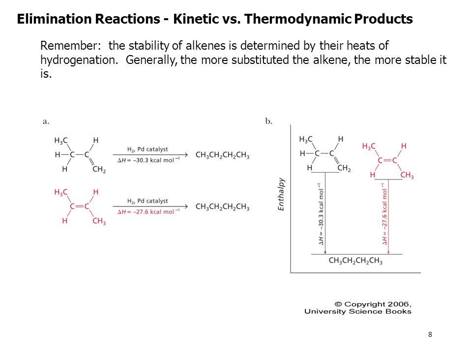 E1 Reactions – Alkyl Halides Alkyl halides can also undergo E1 reactions.