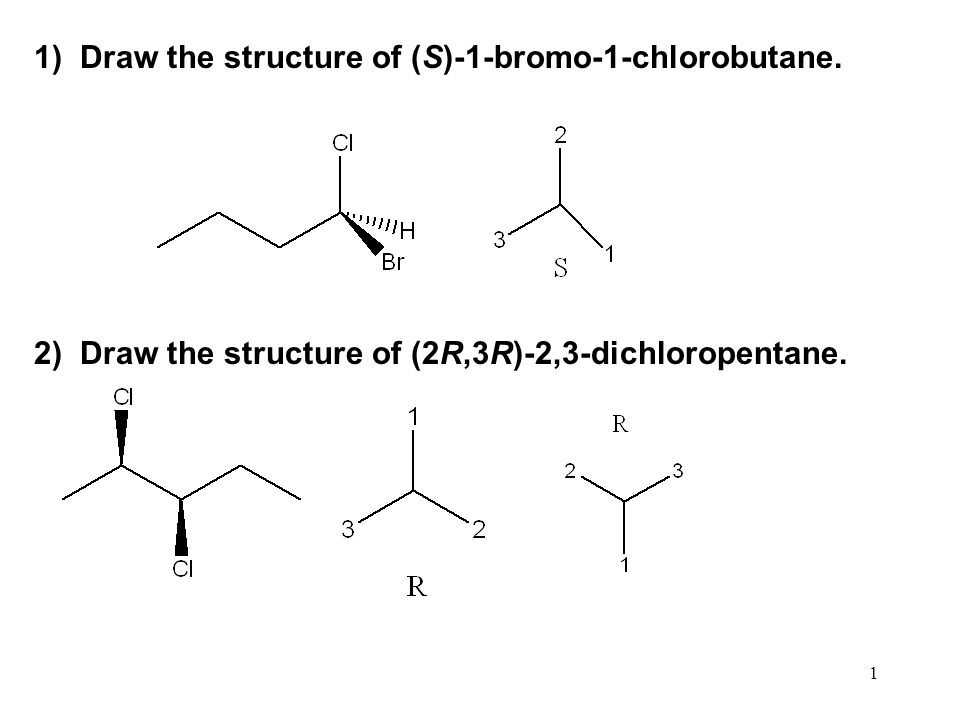R 2 Chlorobutane 1 1  Draw the structure of