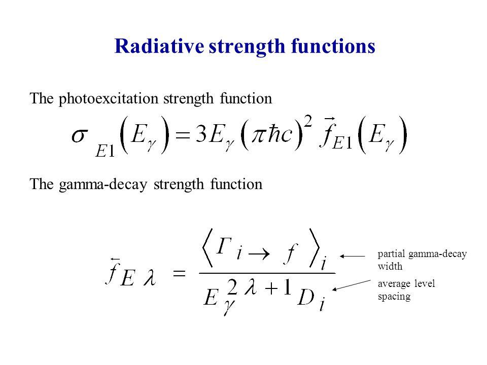 Enhanced Generalized Lorentzian (EGLO) [J.Kopecky, M.Uhl, PRC47(1993)] [S.Kadmensky, V.Markushev, W.Furman, Sov.J.N.Phys 37(1983)] empirical factor from fitting exp.