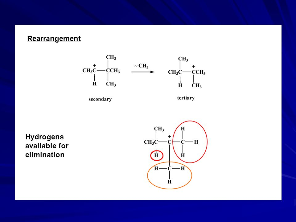 Rearrangement Hydrogens available for elimination