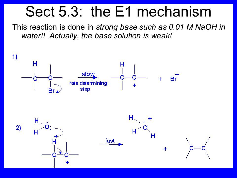 Orientation of elimination E1 reactions faithfully follow Zaitsev's rule.