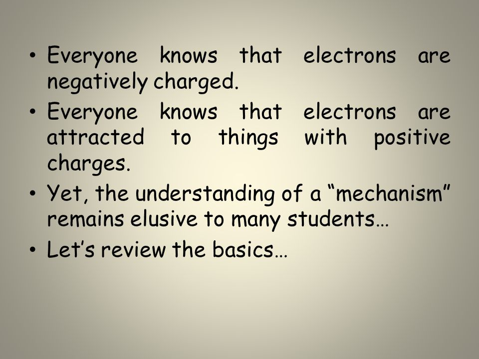Everyone knows that electrons are negatively charged.