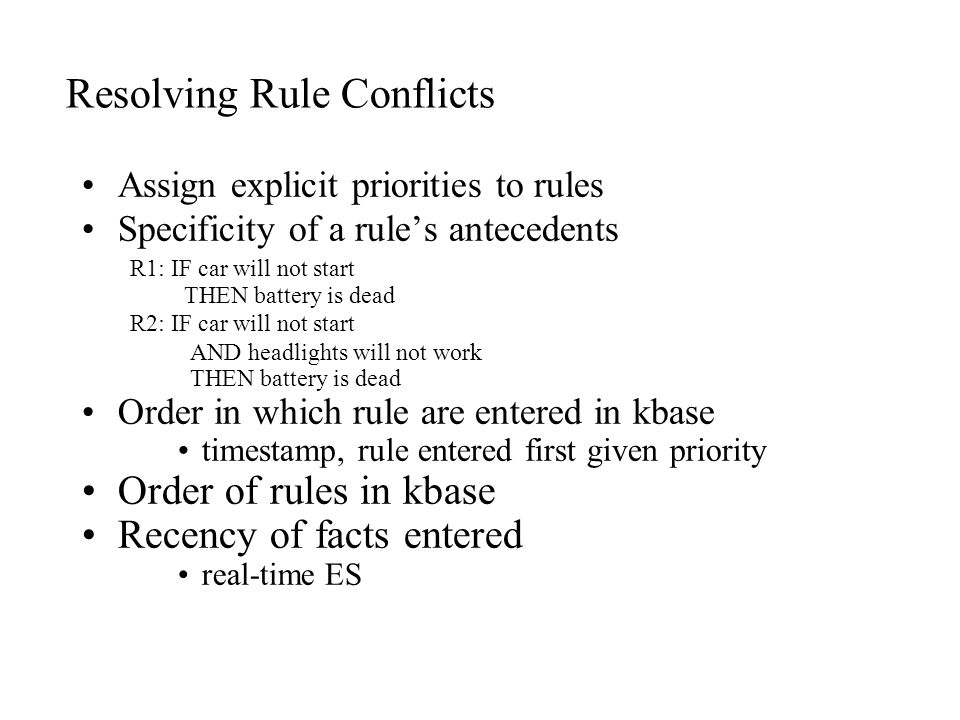 Certainty Threshold CF-condition rule fails to fire Rule condition fails if CF(premise) < Threshold But if rule fires, and after that CF(conclusion) < Threshold the conclusion will still be asserted.