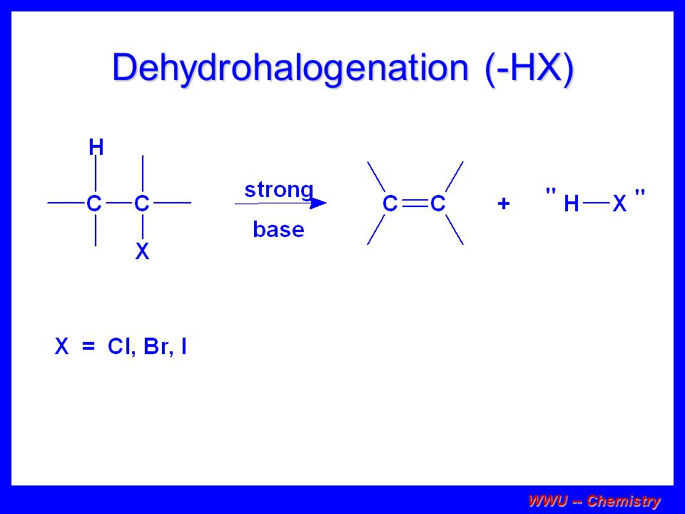 WWU -- Chemistry Stereochemistry of the reactants E1 reactions do not require an anti coplanar orientation of H and X.