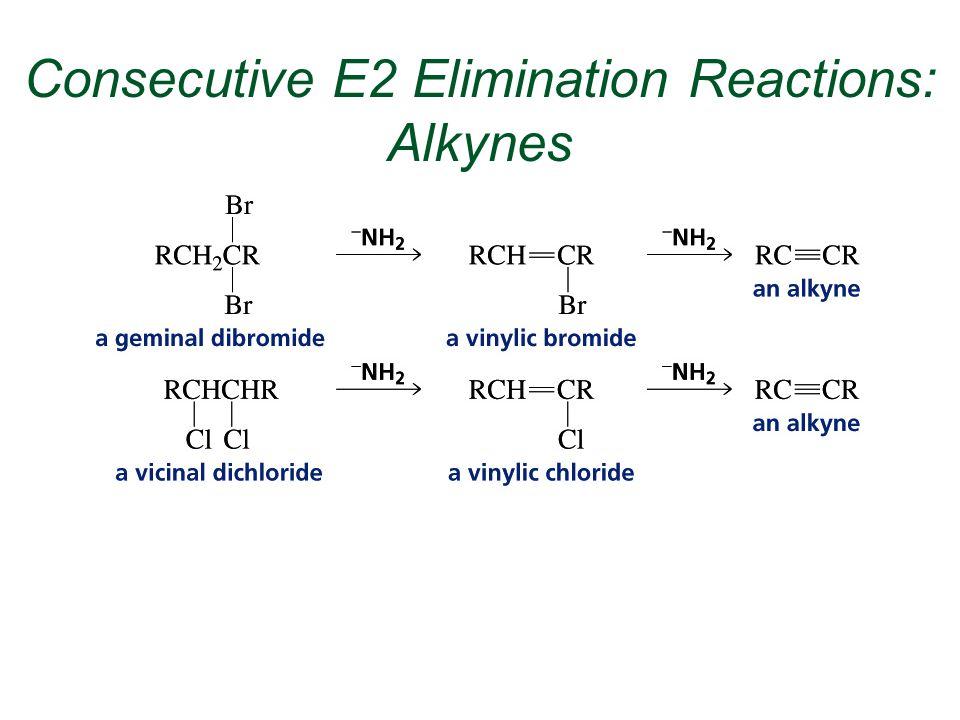 Consecutive E2 Elimination Reactions: Alkynes