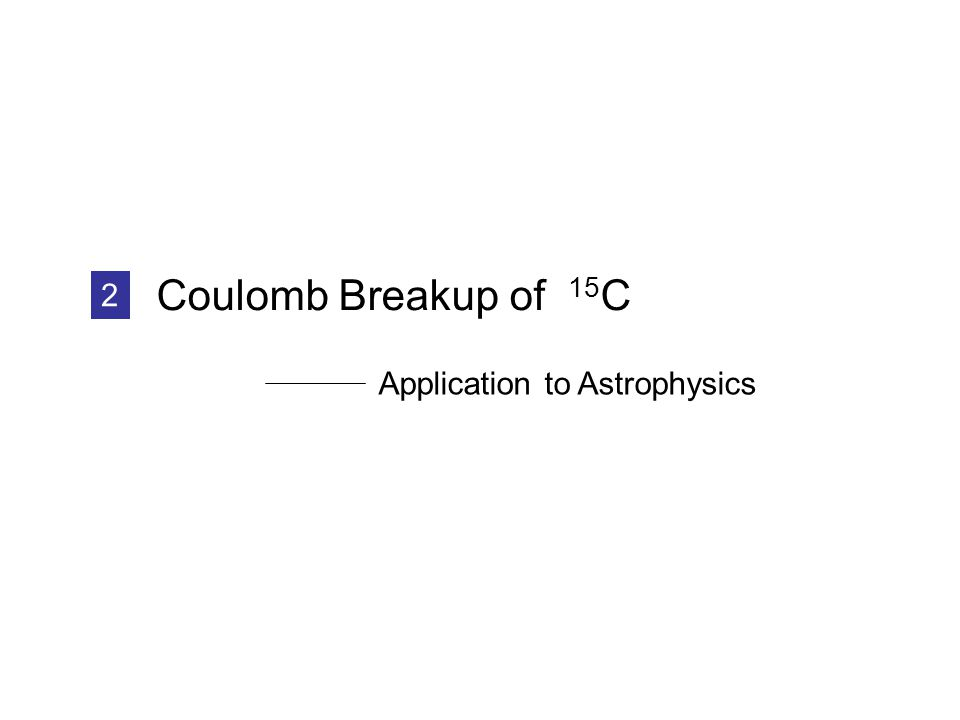 Coulomb Breakup of 15 C 2 Application to Astrophysics