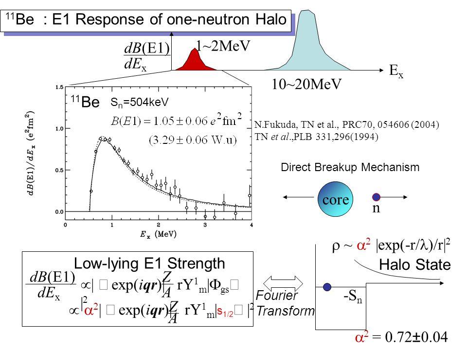 One neutron halo nucleus vs.