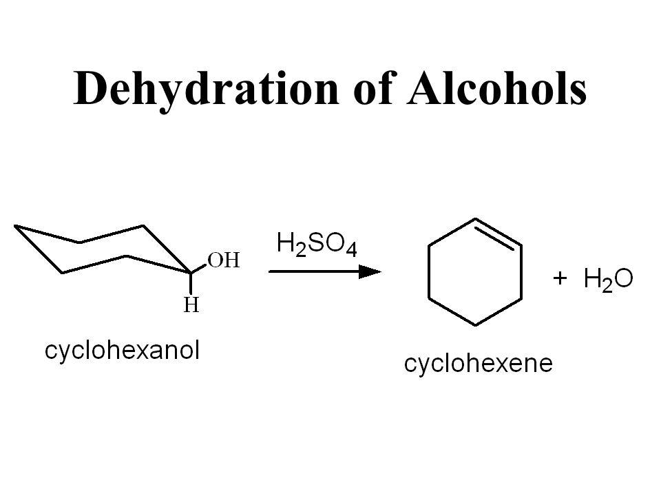 Put cyclohexanol and sulfuric acid in round bottom flask Fractional Distillation (steam distillation) collect distillate 80-85o Procedure