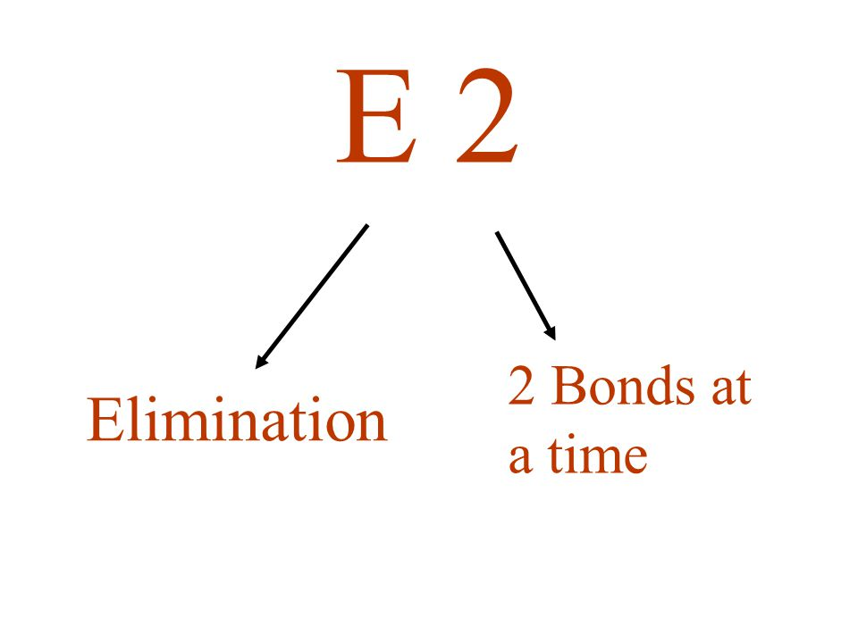 Elimination 2 Bonds at a time E 2